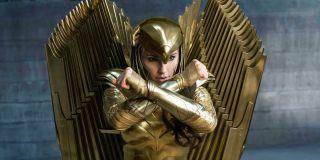 Gal Gadot as Wonder Woman in golden armor