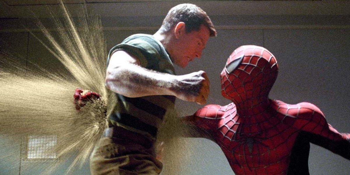 """Sandman and Spider-Man in """"Spider-Man 3"""""""