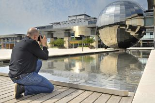 photographer at Bristol waterside