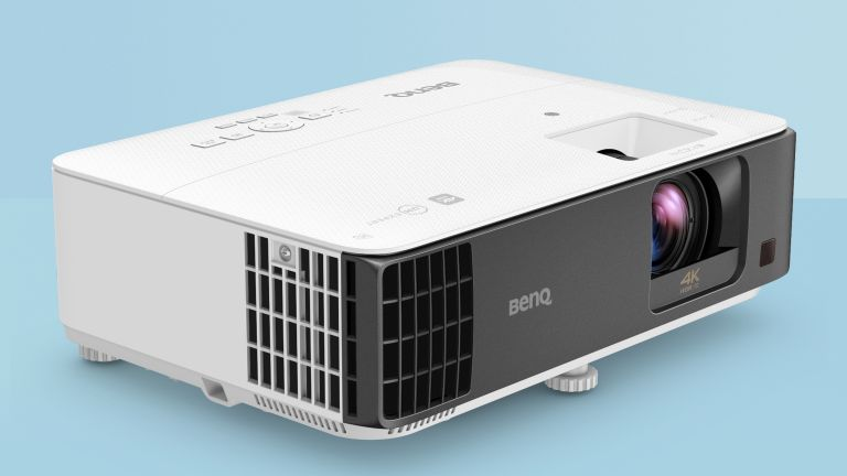 BenQ TK700STi review gaming projector on blue background