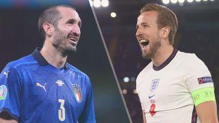 Italy vs England live stream Euro 2020 final —Giorgio Chiellini of Italy and Harry Kane of England