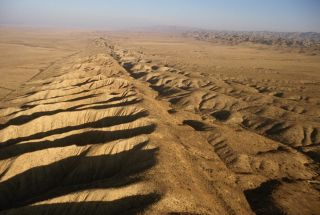 The San Andreas fault system is more than 800 miles (1,300 kilometers) long, and as deep as 10 miles (16 km) in some spots.