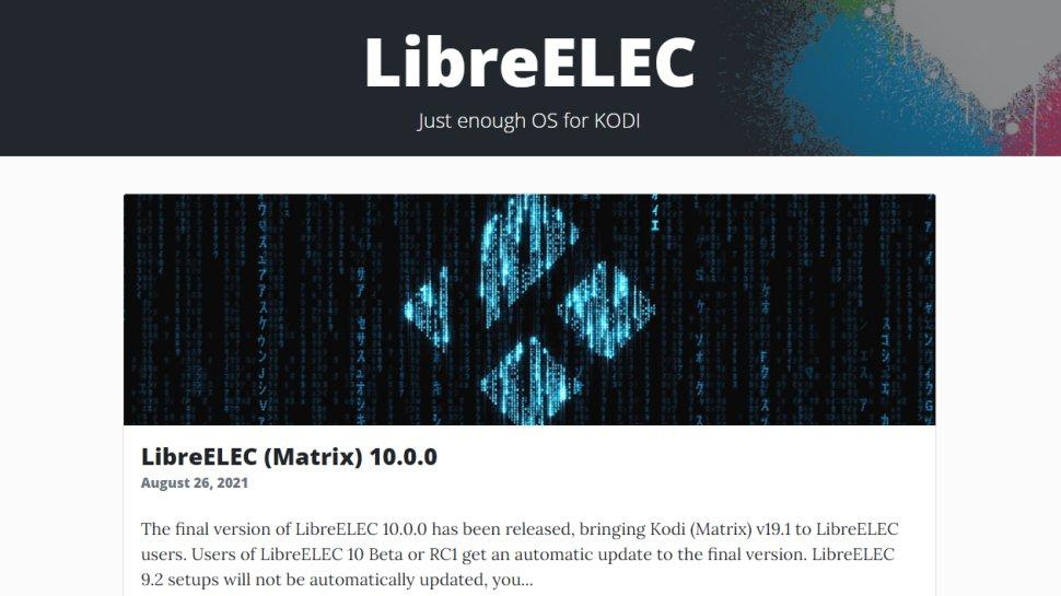 Website screenshot for LibreELEC