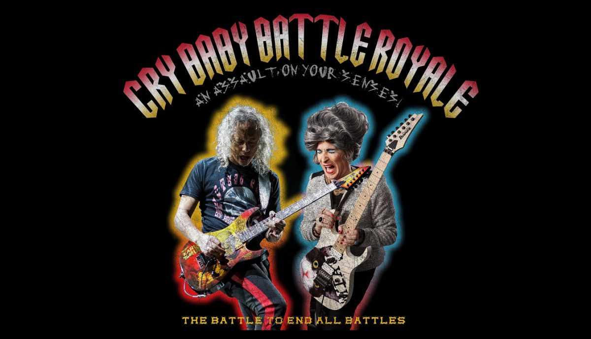Kirk Hammett will battle Mrs Smith in a live guitar Cry Baby Battle Royale wah-off