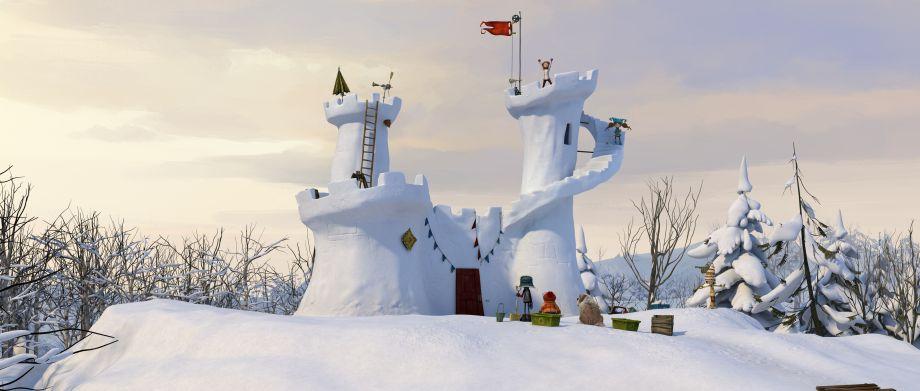 The impressive snow fort