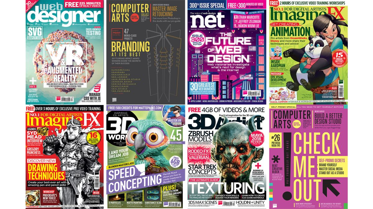 Get Your Work Featured In An Industry Leading Magazine Creative Bloq