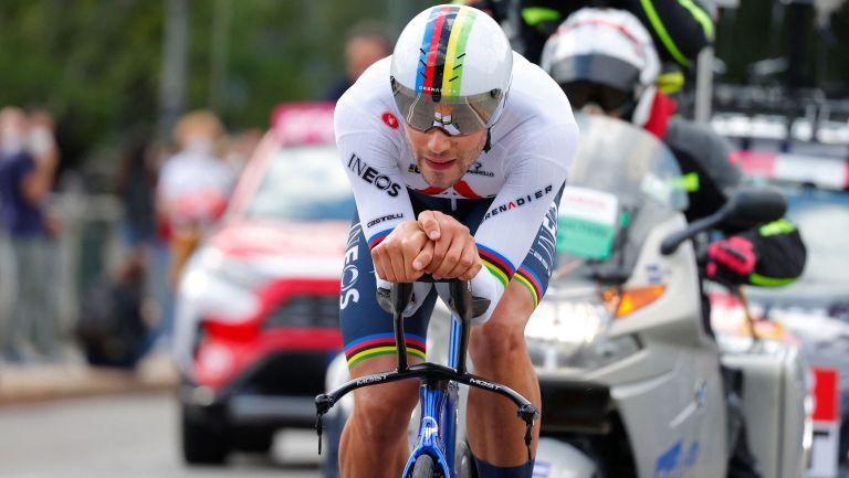 Filippo Ganna on stage one of the 2021 Giro d'Italia