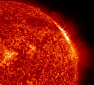 2012 NASA's Solar Dynamics Observatory snapped this view of the powerful X1.7-class solar flare that erupted at 1:37 p.m. EST on Jan. 27, 2012.