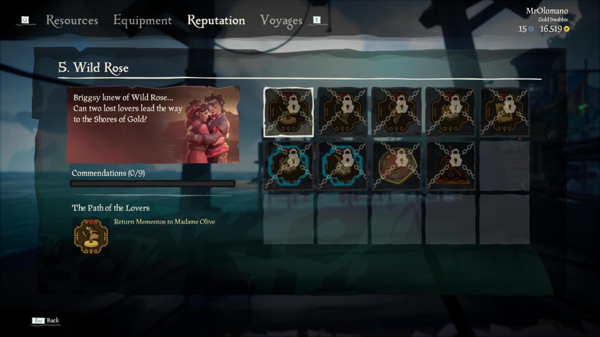 Sea of Thieves The Wild Rose: How to complete the fifth Tall