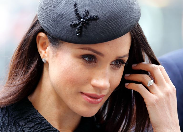 Meghan Markle attends an Anzac Day Service of Commemoration and Thanksgiving at Westminster Abbey on April 25, 2018 in London, England