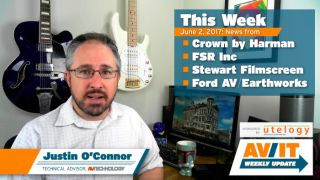 [VIDEO] AV/IT Weekly Update: Crown by Harman, FSR, Stewart Filmscreen, Earthworks
