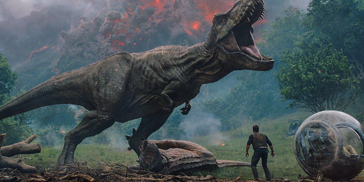 T-Rex in Jurassic World: Fallen Kingdom