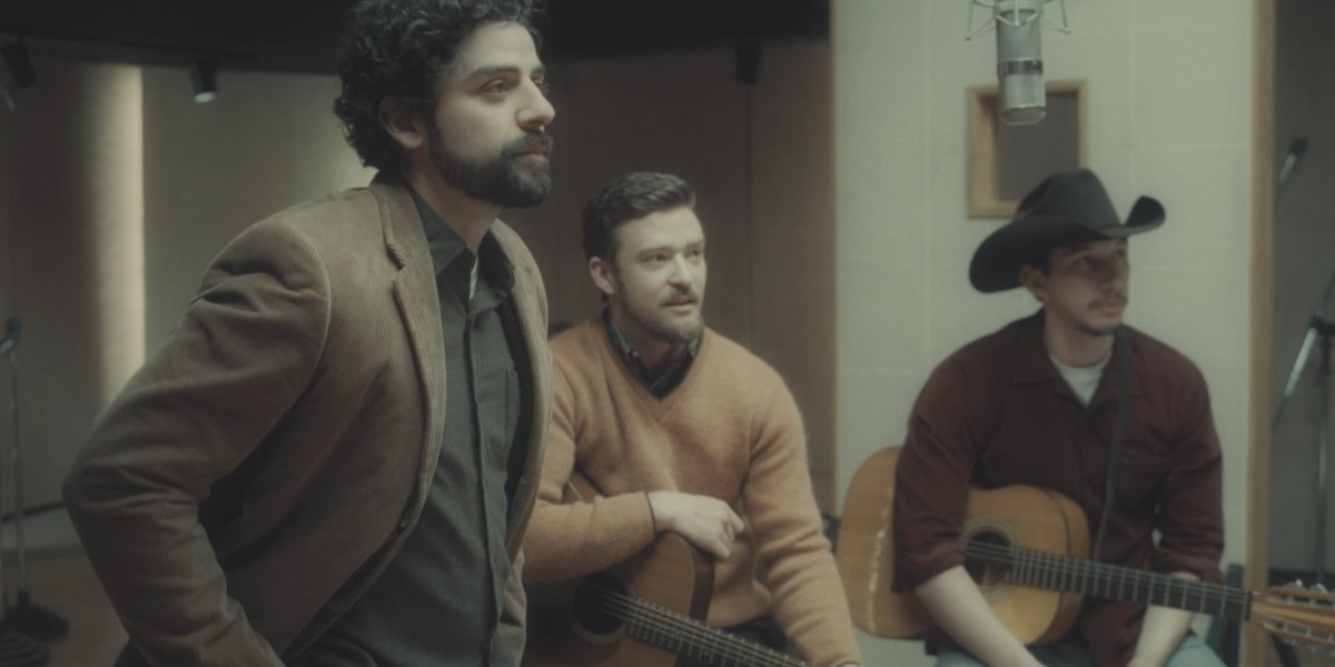 Oscar Isaac, Justin Timberlake, and Adam Driver record a song for Inside Llewyn Davis