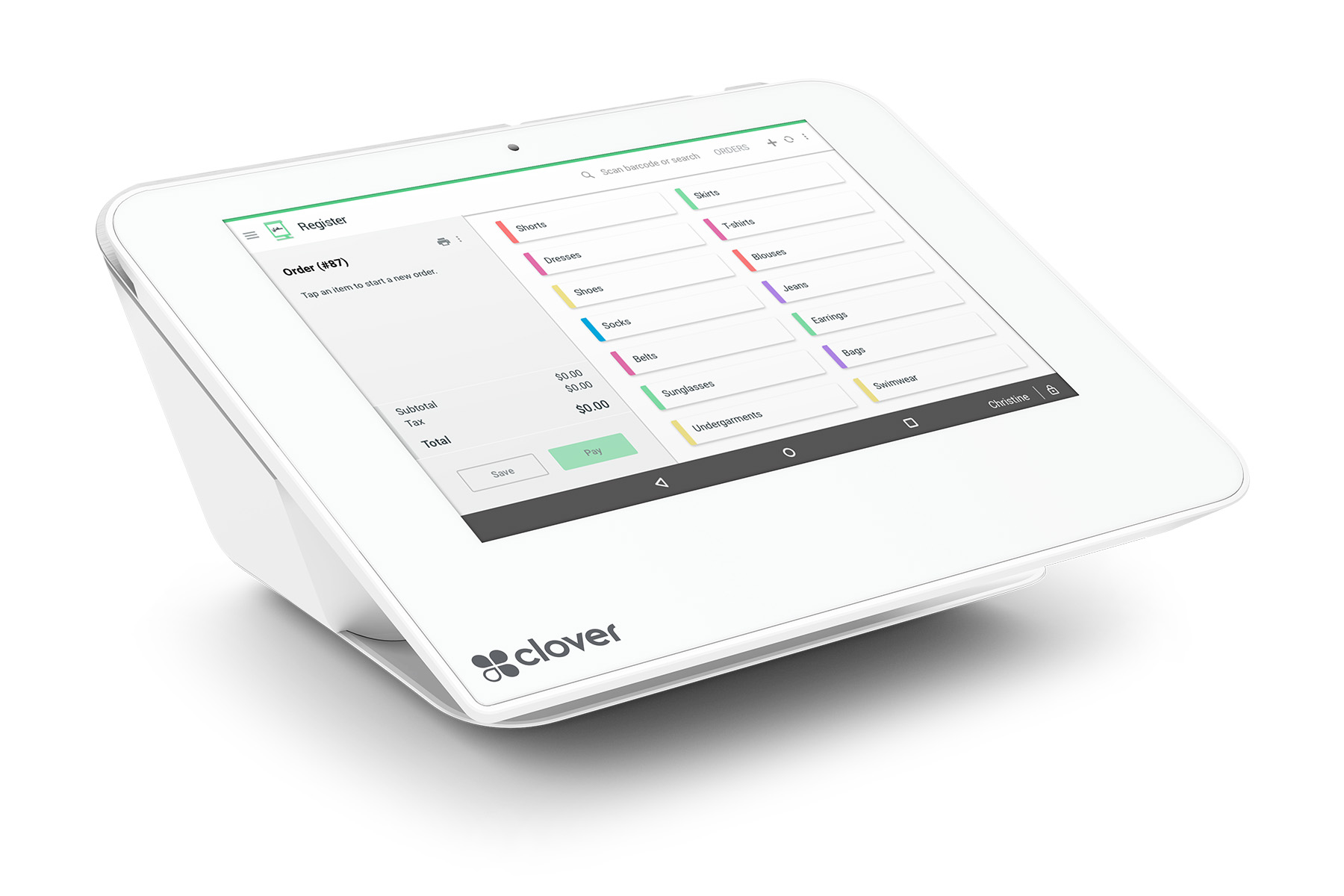 Clover POS has a range of terminals at your disposal including the Mini