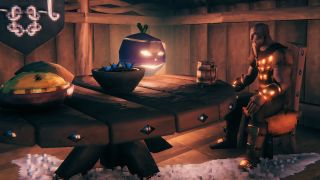 Valheim Jack-o'-turnip sitting on a table
