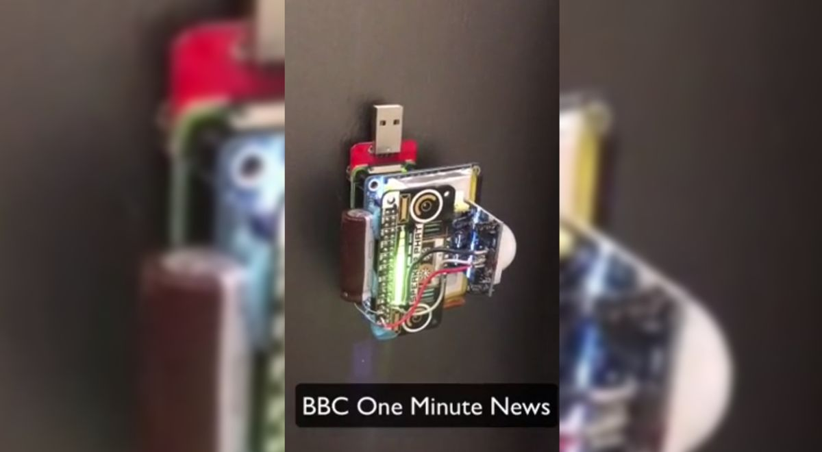 Raspberry Pi Fridge Magnet Plays News When it Detects People