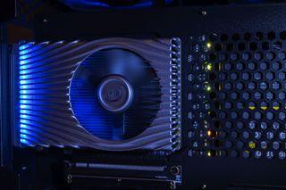 Intel Xe DG1 SDV PCIe graphics card