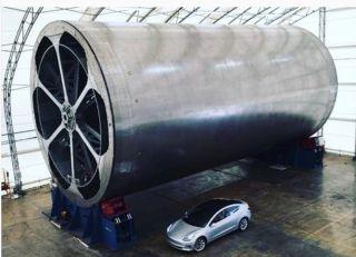SpaceX BFR Spaceship Tool Musk