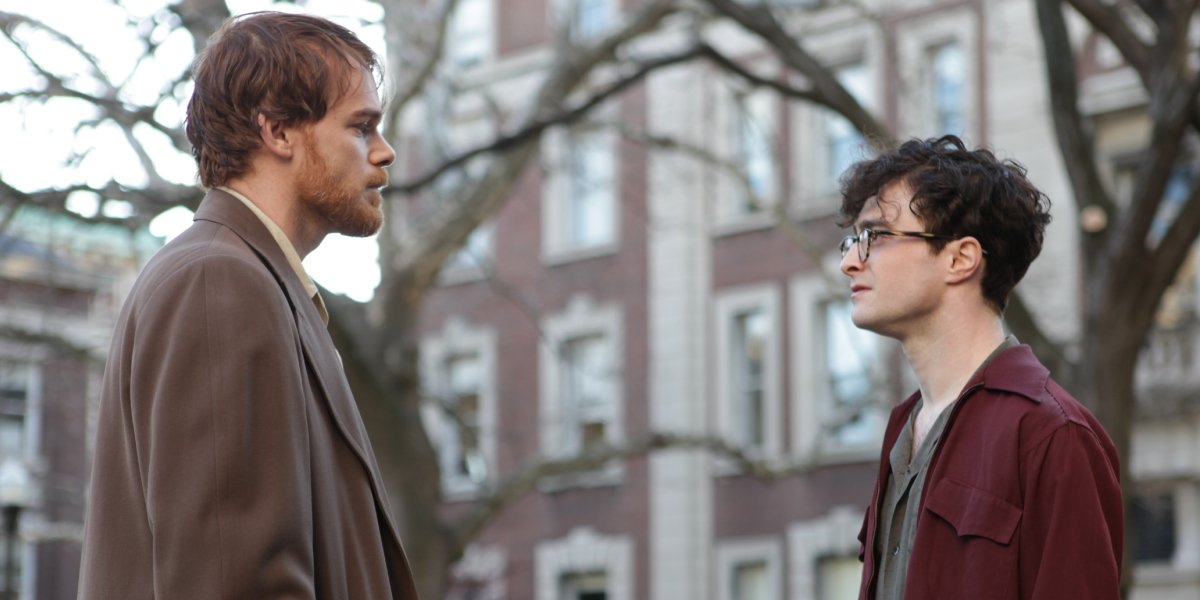 Michael C. Hall and Daniel Radcliffe in Kill Your Darlings