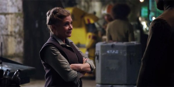 General Leia in Star Wars: The Force Awakens