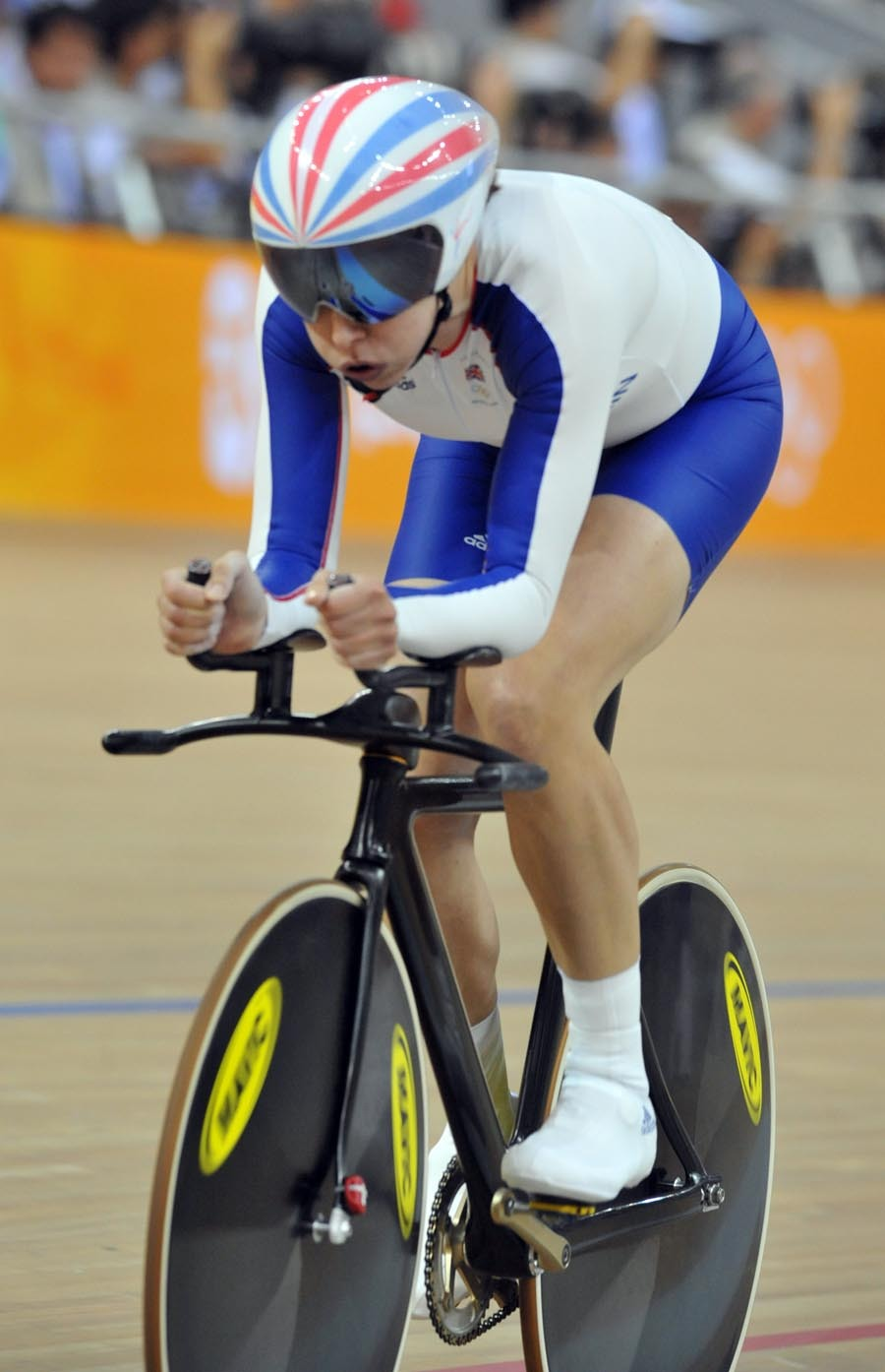 Rebecca Romero qualifying individual pursuit Olympics 2008
