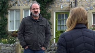 Jimmy confronts Charity in Emmerdale
