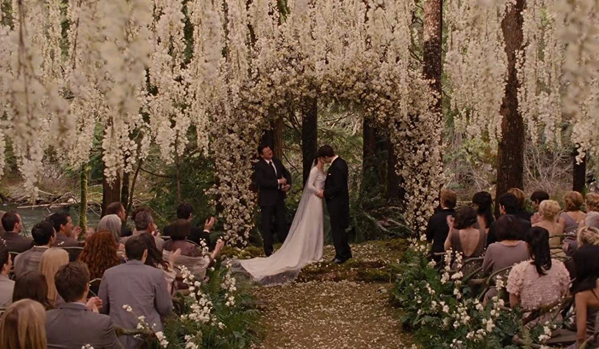 Edward and Bella Wedding day in Twilight: Breaking Dawn Part 1