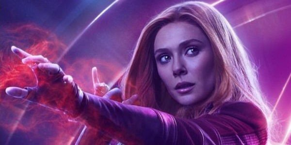 Scarlet Witch in the Infinity War poster