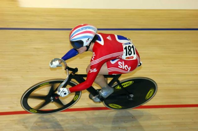 Victoria Pendleton Great Britain 2010 wrold track championships Copenhagen sprint qualifying.jpg