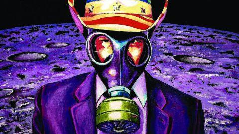 Galactic Cowboys - Long Way Back To The Moon album artwork