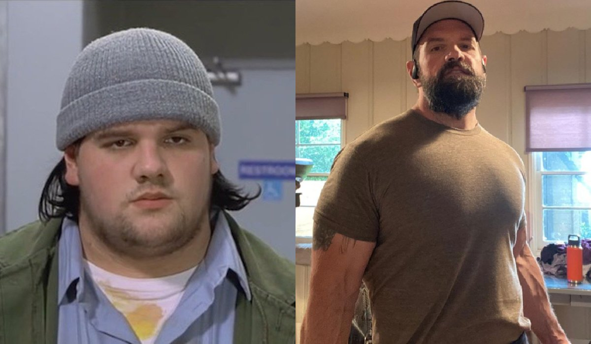 Ethan Suplee in Mallrats and in a workout photo