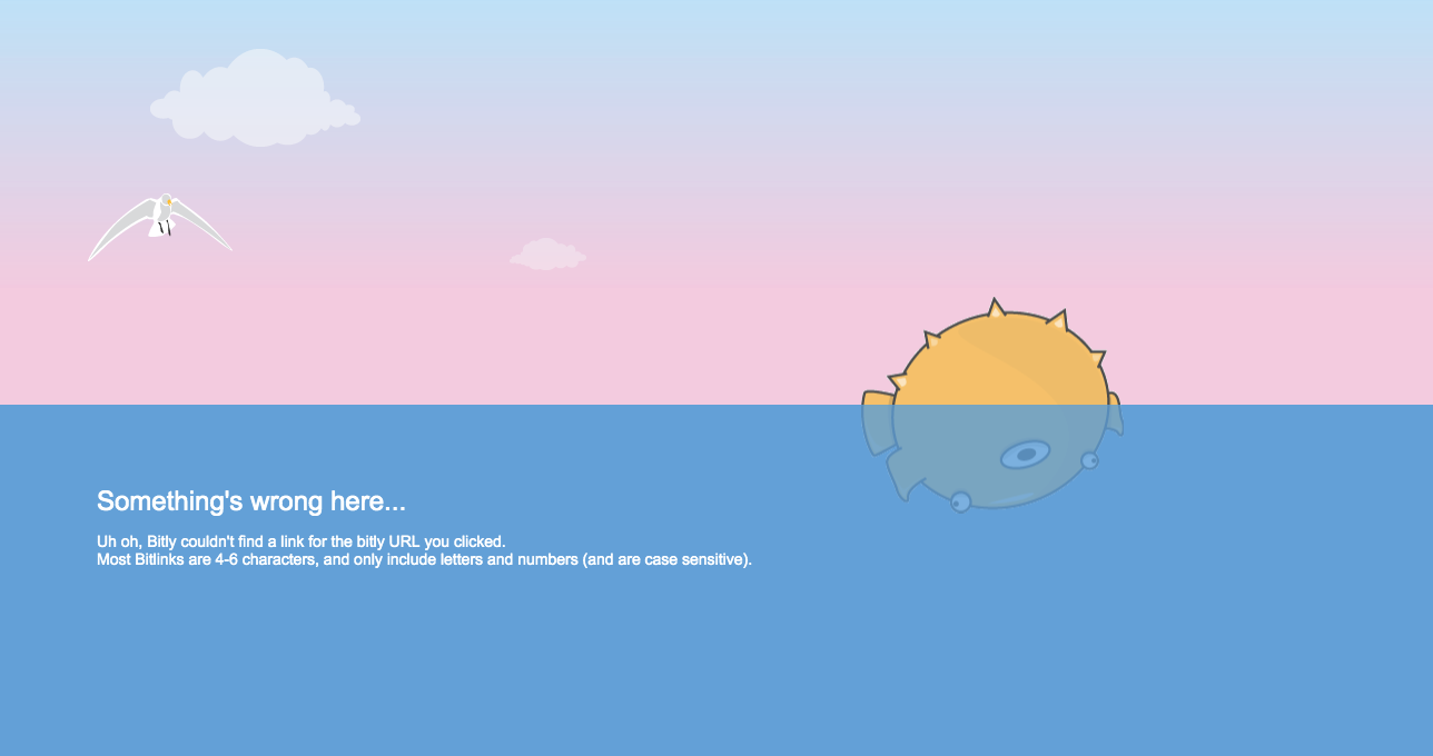 Bitly 404 page