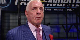 Ric Flair looking ashamed WWE