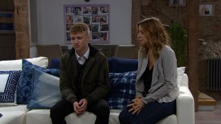 Charity Dingle is floored in Emmerdale