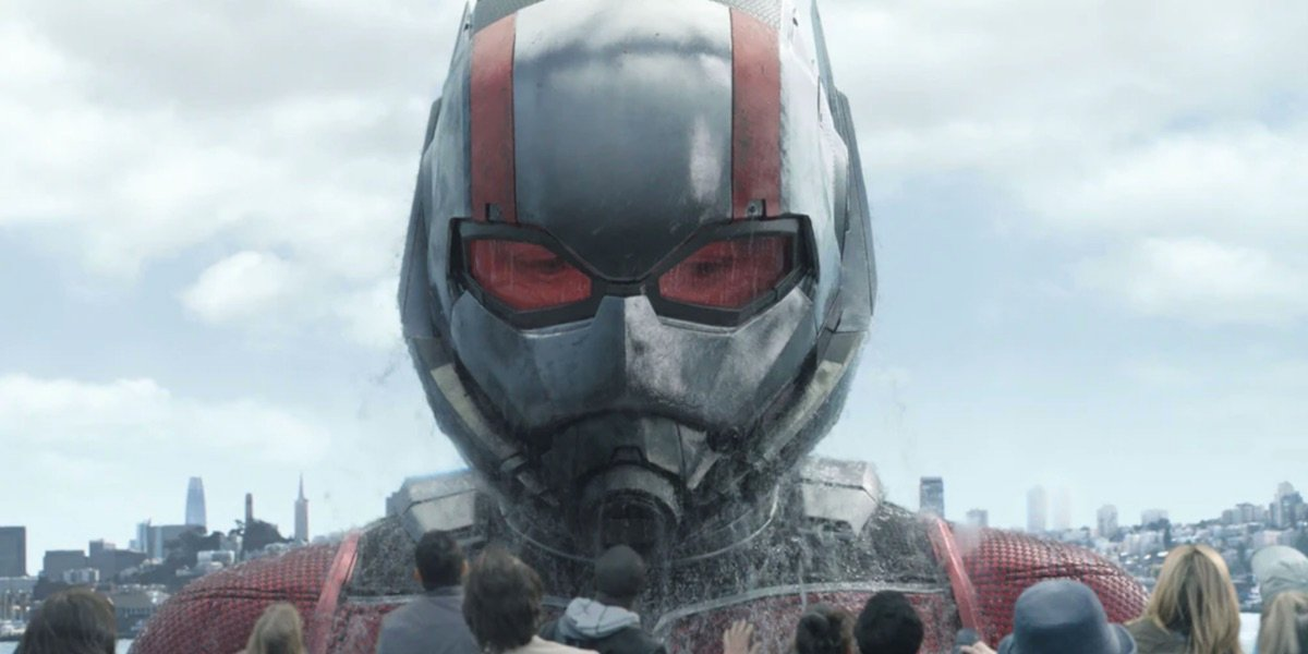Ant-Man scaring a boat full of people in Ant-Man and The Wasp