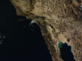 colby fire seen from space