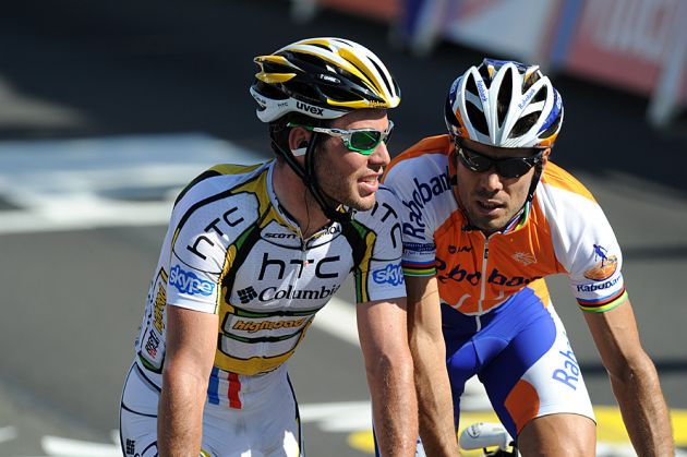 Mark Cavendish and Oscar Freire, Tour de France 2010 stage 1