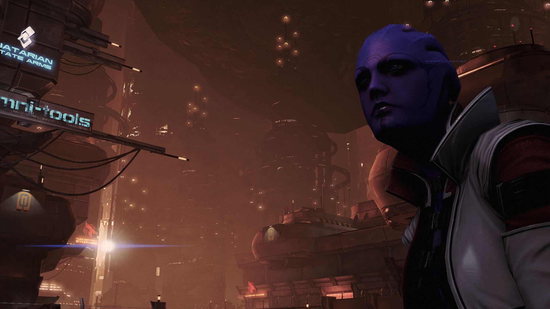 Aria in Mass Effect 3's Omega DLC