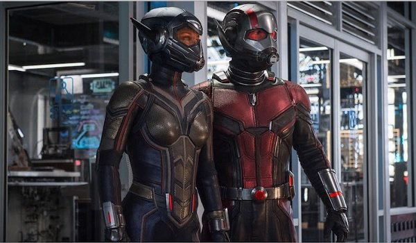 Ant-Man and The Wasp look out towards the threat