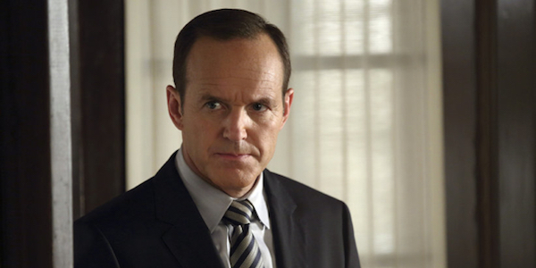 Agent Coulson in a doorway