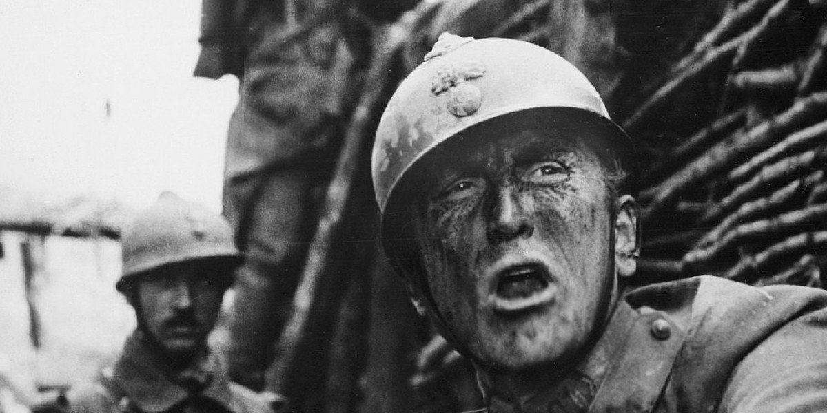 Kirk Douglas in the trenches