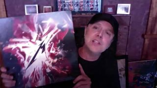 Metallica's Lars Ulrich with the S&M2 box set
