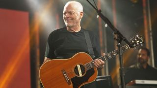 David Gilmour appears on Jimmy Kimmel Live, 2016