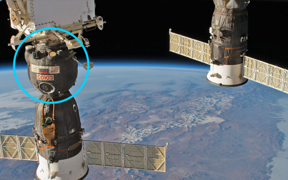 astronaut plugs hole in space station - photo #17