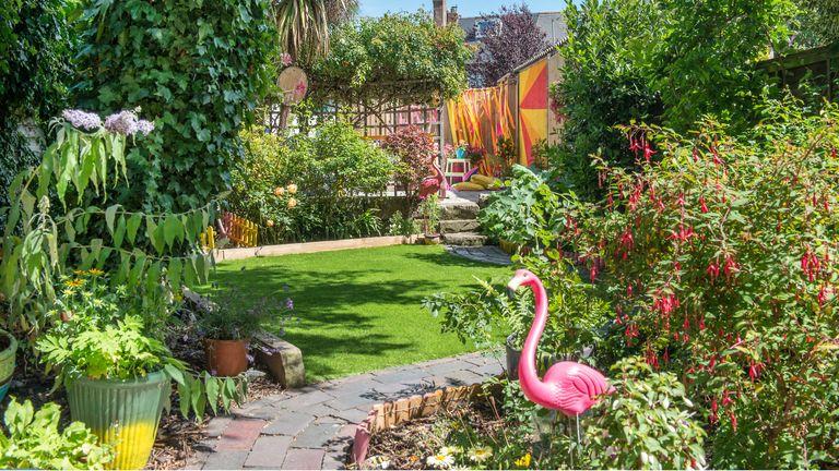 Colourful garden makeover