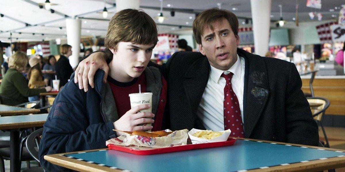 Nicholas Hoult, Nicolas Cage in The Weather Man