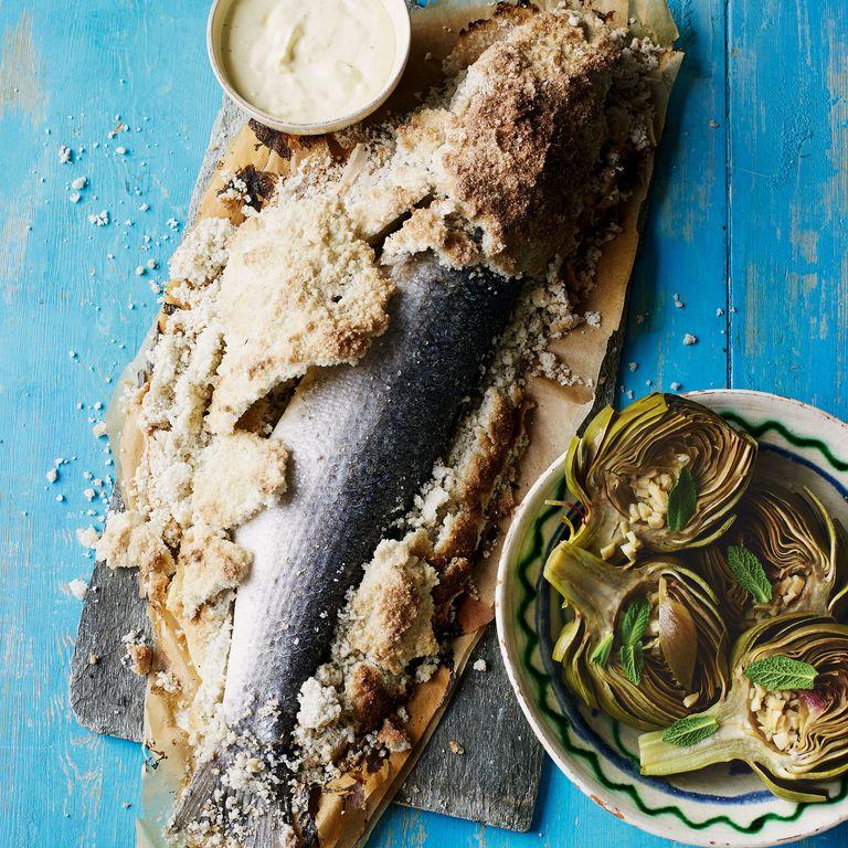 Sea Bass Baked In Salt
