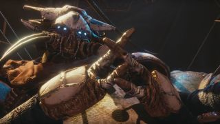 Spider, the tangled shore vendor in Destiny 2: Forsaken
