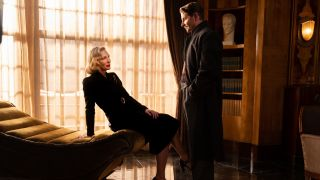 Cate Blanchett and Bradley Cooper in Nightmare Alley