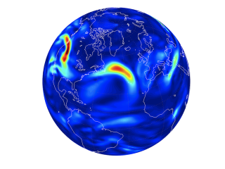 Turbulence in North Atlantic with global warming.